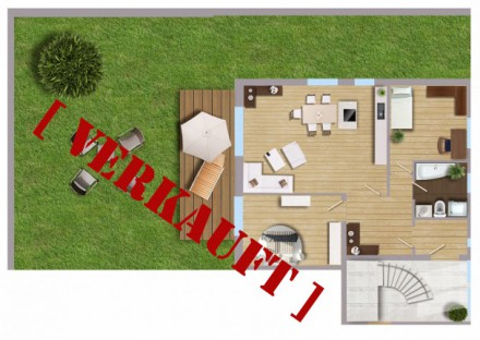3-Zimmer-Wohnung mit Garten – VERKAUFT
