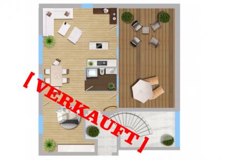 2-Zimmer-Wohnung mit Dachterrasse – VERKAUFT